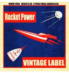 Retro rockets vector