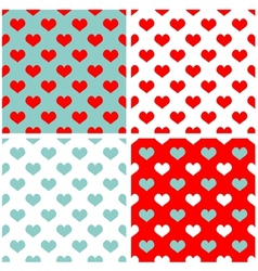 Tile pastel hearts background wallpaper set vector