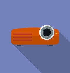Icon of projector flat style vector