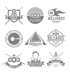 Billiards black label vector