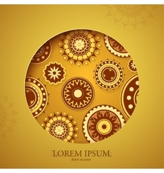 Ornamental card vector