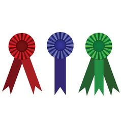 Award ribbon set vector