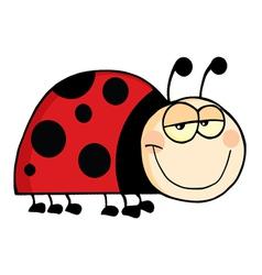 Happy ladybug smiling vector