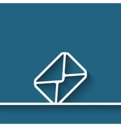 Mail envelope symbol vector