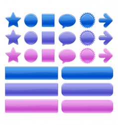 Color web buttons vector