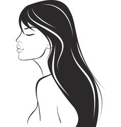 Beauty woman portrait design element vector