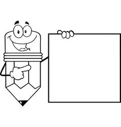 Cartoon pencil classroom teacher vector