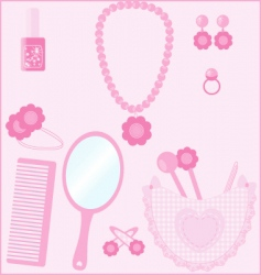 Girl stuff vector