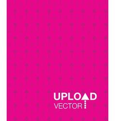 Pink upload background vector
