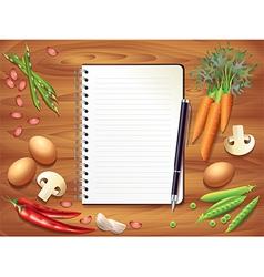 Kitchen recipe background vector