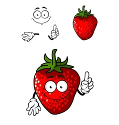 Cheerful ripe red strawberry vector