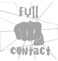 Martial arts full contact vector