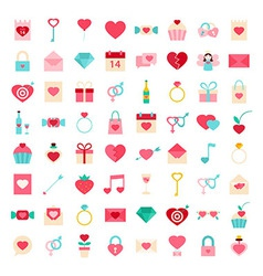 Love flat style icons vector