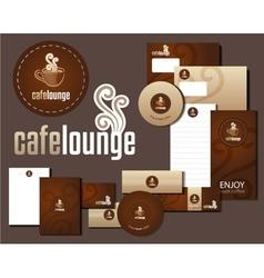 Cafe lounge corporate design vector