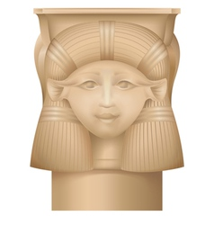 Hathor column  ancient egypt capital vector