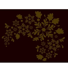 The pattern of the golden flowers eps10 vector