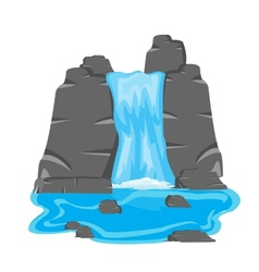 Waterfall amongst stone vector