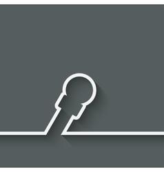 Speaker microphone symbol vector