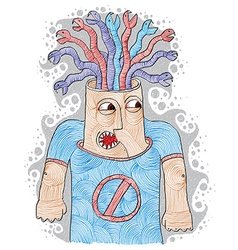 Poisoned thoughts concept angry person metaphor n vector