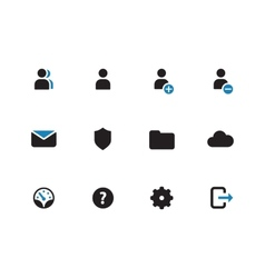 User account duotone icons on white background vector
