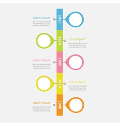 Timeline vertical infographic with placemarks vector