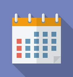 Icon of calendar flat style vector