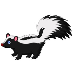 Cute skunk cartoon vector