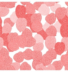 Seamless pattern of pink flower petals vector