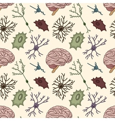 Seamless pattern of the neurons vector