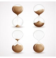 Hourglass decorative icons set vector