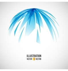 Abstract background of blue fragments vector