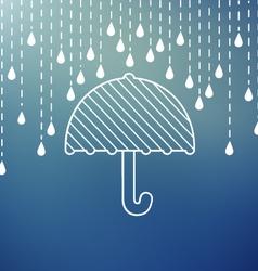 Raining on a umbrella vector