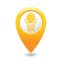 Basketball1 map pointer yellow vector