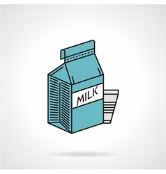 Milk blue pack icon vector