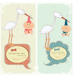 Baby postcard vector
