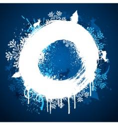 Winter paint ring design vector