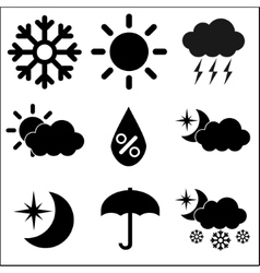 Weather icons on white background vector