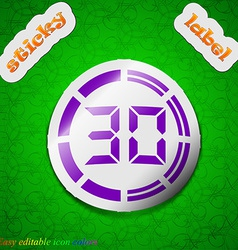 30 second stopwatch icon sign symbol chic colored vector