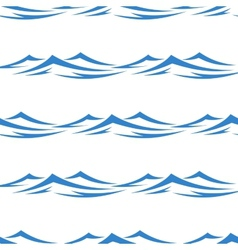 Undulating waves seamless background pattern vector
