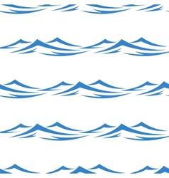 Undulating waves seamless background pattern vector
