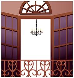Elegant balcony vector
