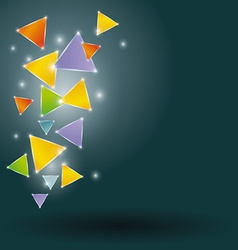 Glowing triangles on a black background vector