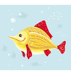 Smiling cartoon fish vector