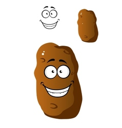 Cartoon fresh potato with a beaming smile vector