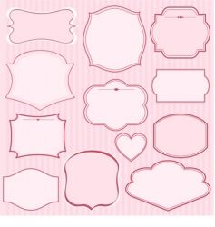 Set of pink frames vector
