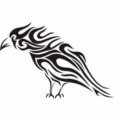 Raven tribal tattoo vector