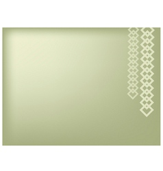 Square chain on green background vector