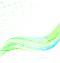 Modern abstract green fresh swoosh wave vector