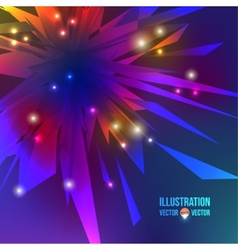 Abstract background of multicolored fragments vector