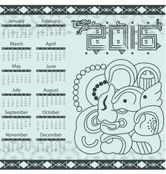 Calendar in aztec style with hieroglyphs vector
